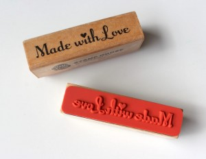 Stempel Made with love